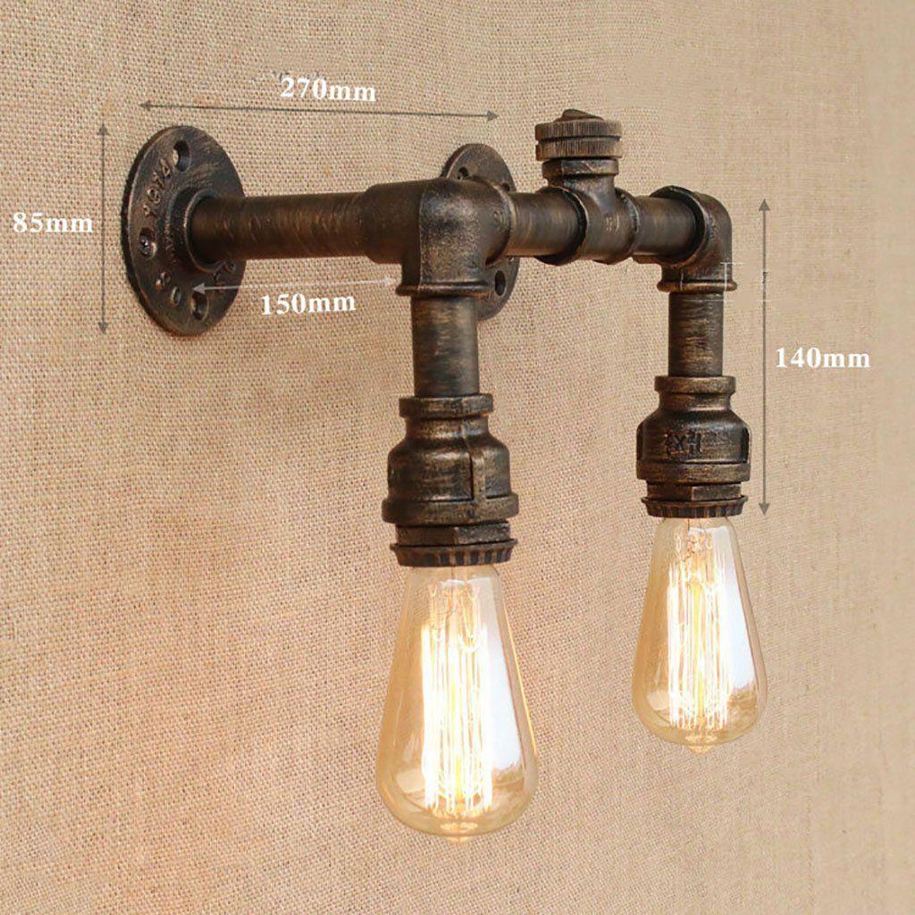 LOIFT Retro Lampada da Parete Industrial American Village Creative ...