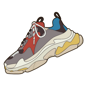 Balenciaga Triple S Sneaker Sneakers Illustration Sneakers Drawing Fashion Illustration Shoes