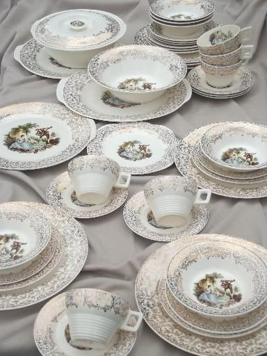 french antique dinnerware sets | china dinnerware see all vintage flatware silver silver plate copper . & french antique dinnerware sets | china dinnerware see all vintage ...