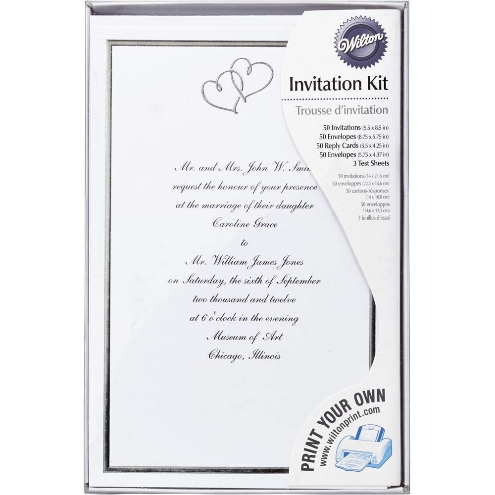 wilton wedding invitations- Since the wedding is not a single