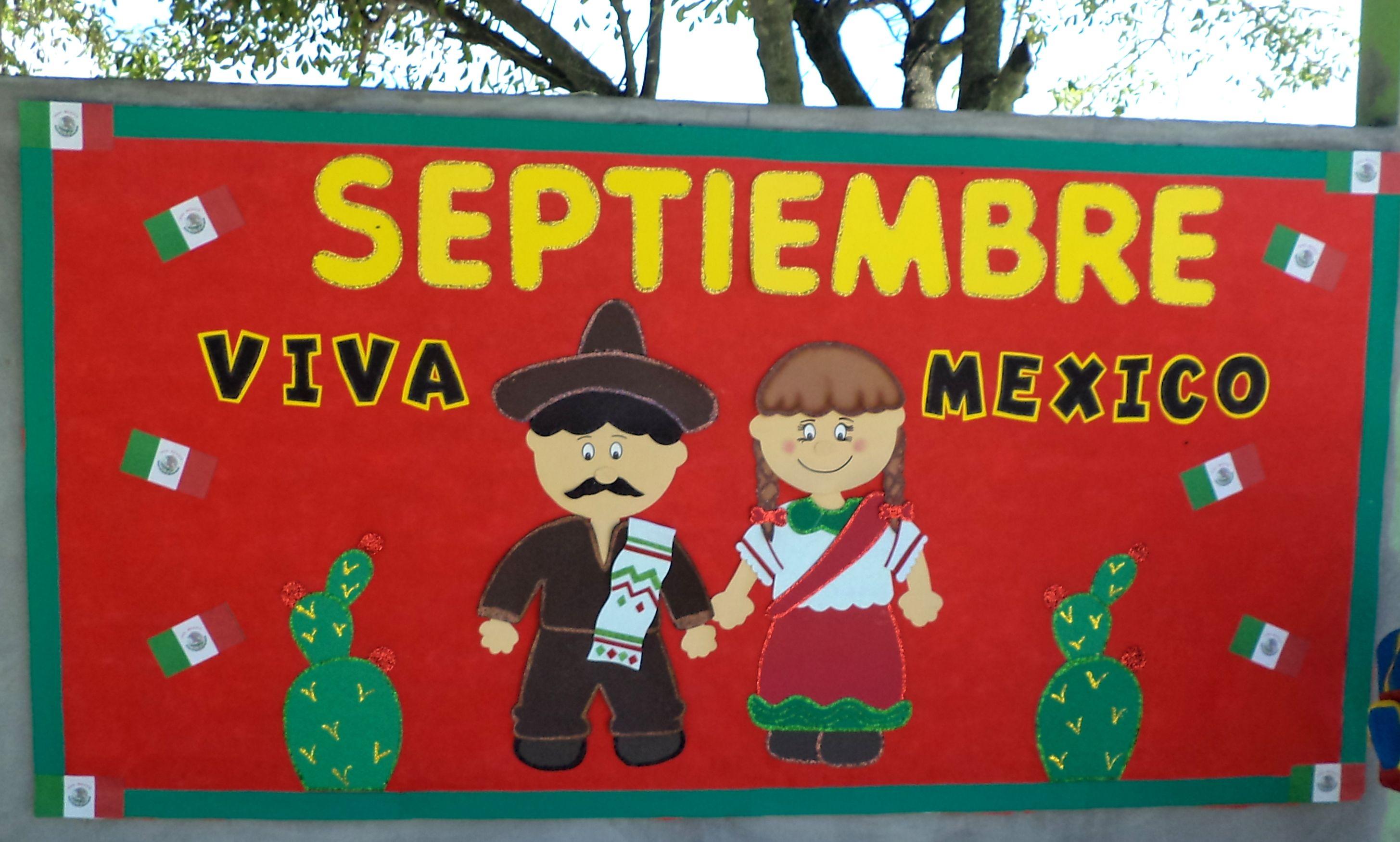 Pin de diann ysbel en viva mexico periodico mural for Puertas decoradas para el 16 de septiembre