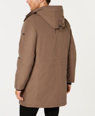 15b44d449248 Michael Kors Men's Modern-Fit Hooded All Weather Anorak Raincoat -  Tan/Beige XXL