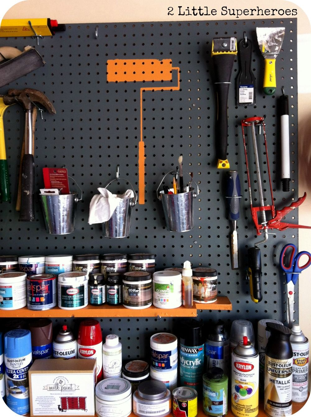 Pegboard Storage For Paint Supplies Trinityproducts