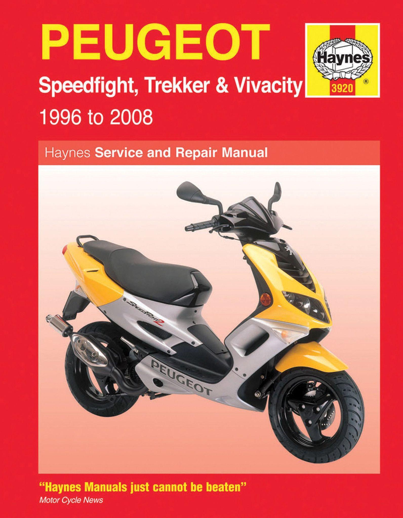 Haynes M3920 Repair Manual for 1996-08 Peugeot Speedfight / Trekker /  Vivacity