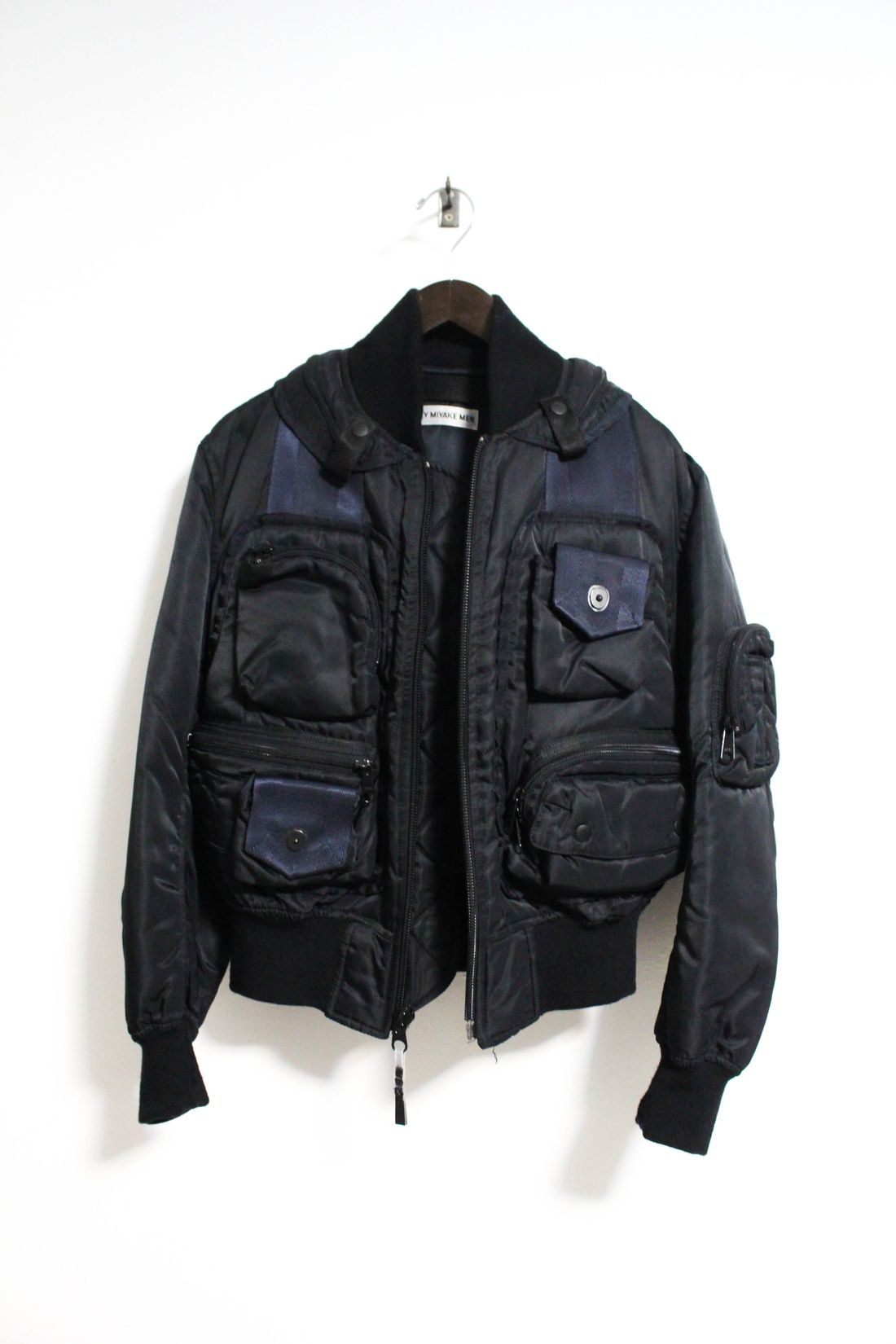 23f8d463bb84 Issey Miyake Aw 1996 Parachute Cargo Ma 1 Bomber Jacket Size M  4000 -  Grailed