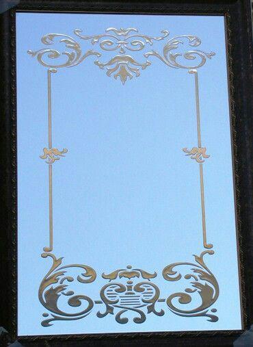 Decorative mirror sides