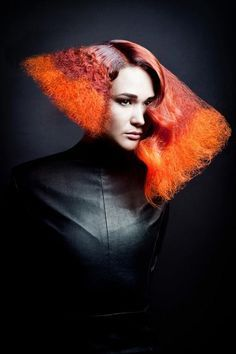 Hair by Alain Shchepina Photography by Olga Varzanova. http://hairtrend.ru/alena-shchepina-2012/ avant garde hair // runway