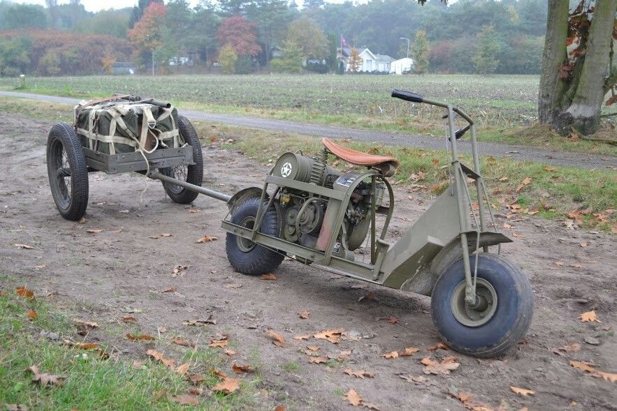 US Airborne scooter with trailer