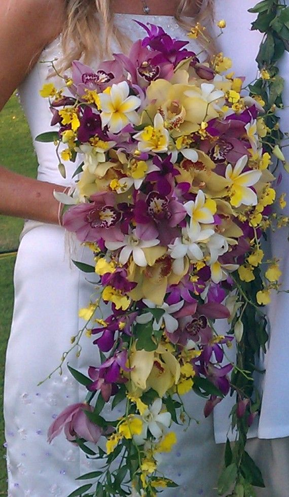 Kim went all out with this Cascading Tropical Bouquet. Beautiful ...