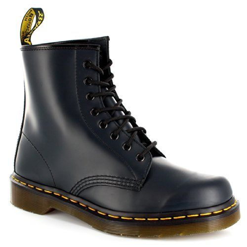 Mens Dr Martens 1460Z 8 Eyelet Smooth Leather Oxfords Combat Army Boot Navy  11 **