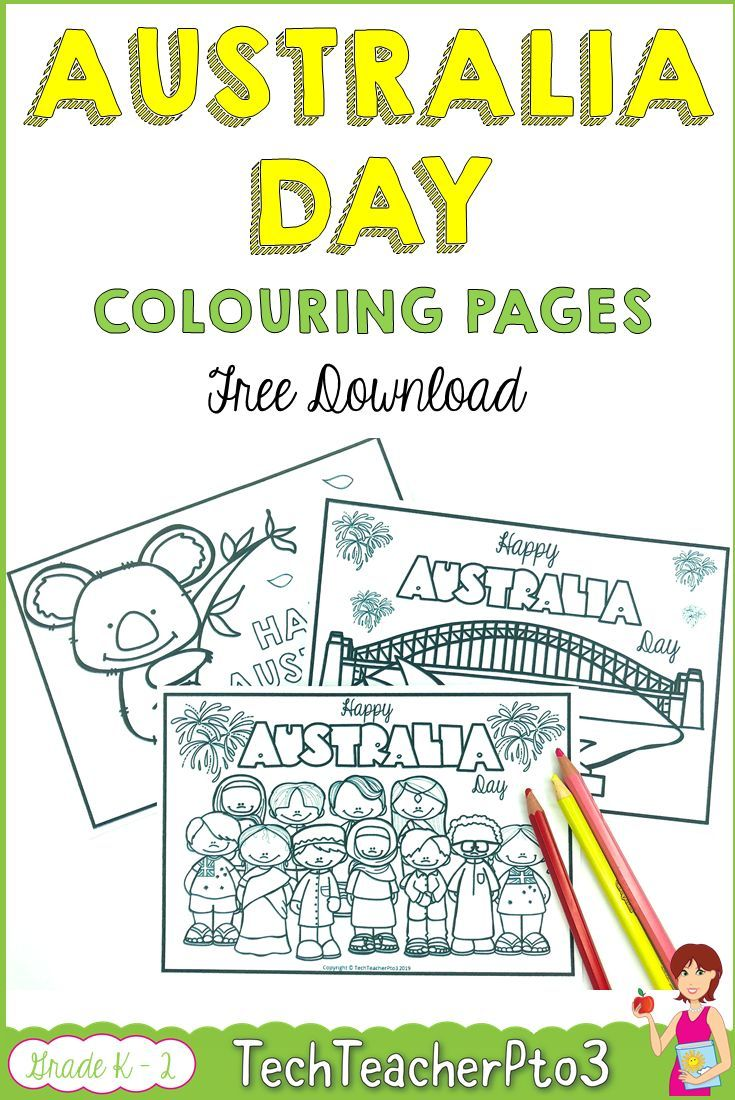 Australia Day Colouring Pages FREE DOWNLOAD Free