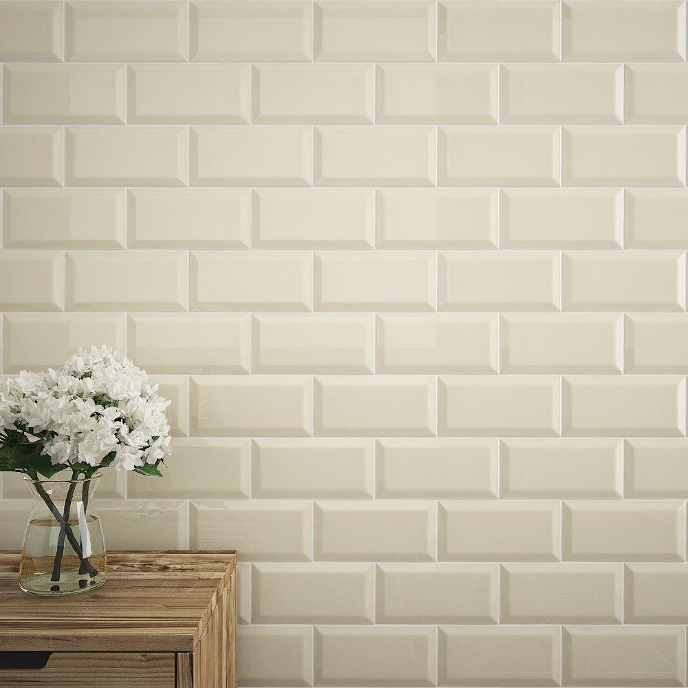 Victoria Metro Wall Tiles - Gloss Cream - 20 x 10cm | Metro tiles ...