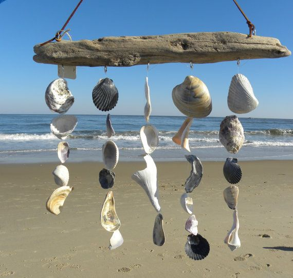 Driftwood Sea Shell Mobile Beach Wind Chime By Somethingfromthesea 40 00