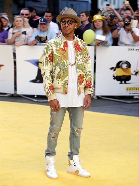 bc54121a Lewis Hamilton styles in Adidas Originals and Saint Laurent in London # lewishamilton #adidasoriginals #pharrellwilliams #jacket #saintlaurent  #sneakers ...