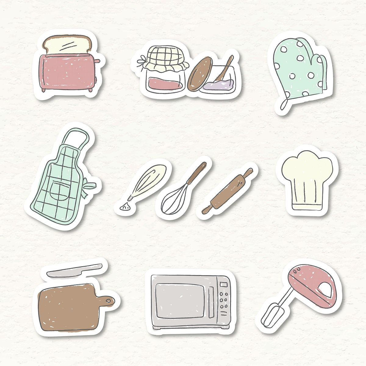 Cute Kitchen Utensils Doodle Sticker Set Vector Free Image By Rawpixel Com Nunny In 2021 Kitchen Stickers Cute Kitchen Print Stickers [ 1200 x 1200 Pixel ]