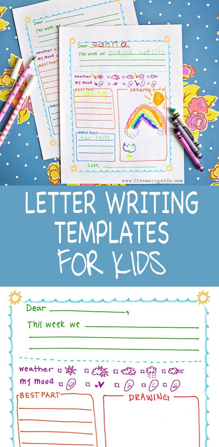 the free letter template for kids is great for pen pals summer camp and keeping in touch with pals and relatives over summer vacation