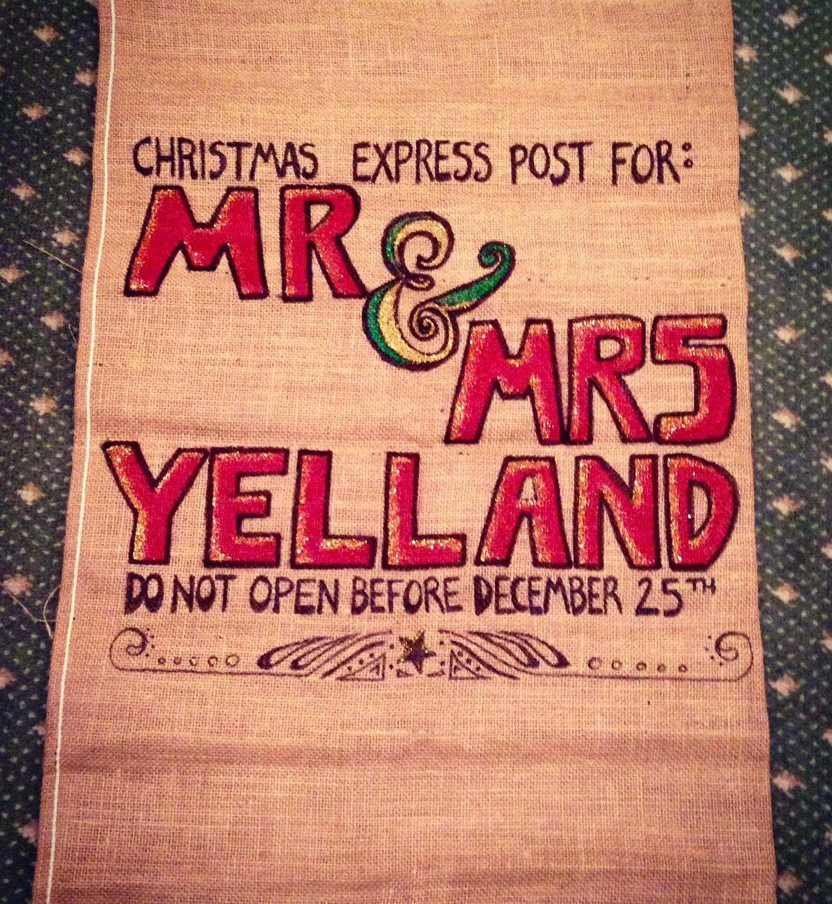 Handmade Santa Stockings