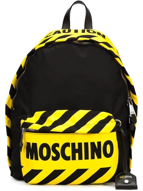 c626c074df Moschino caution backpack | Purse in 2019 | Backpacks, Moschino bag ...