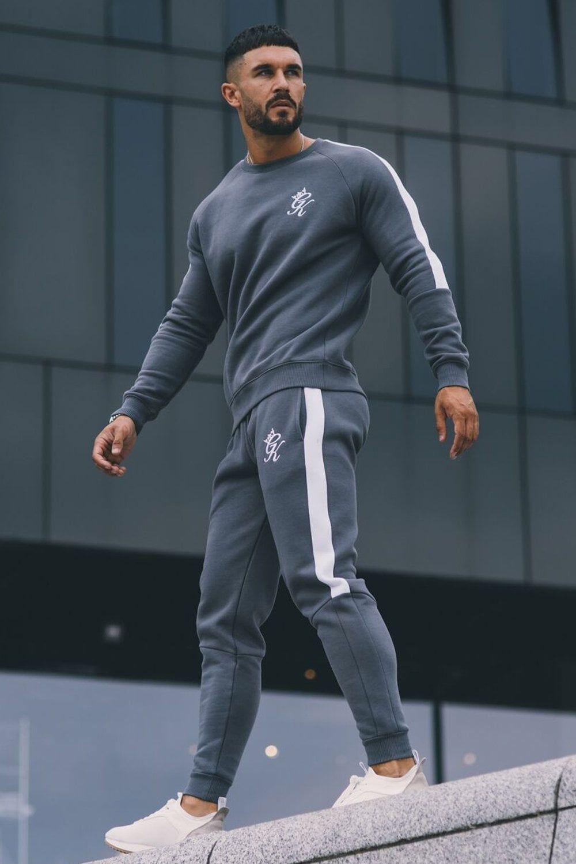 d1e5eb24 Gym King Stripe Panel Fleece Crew Sweatshirt | paijama in 2019 ...
