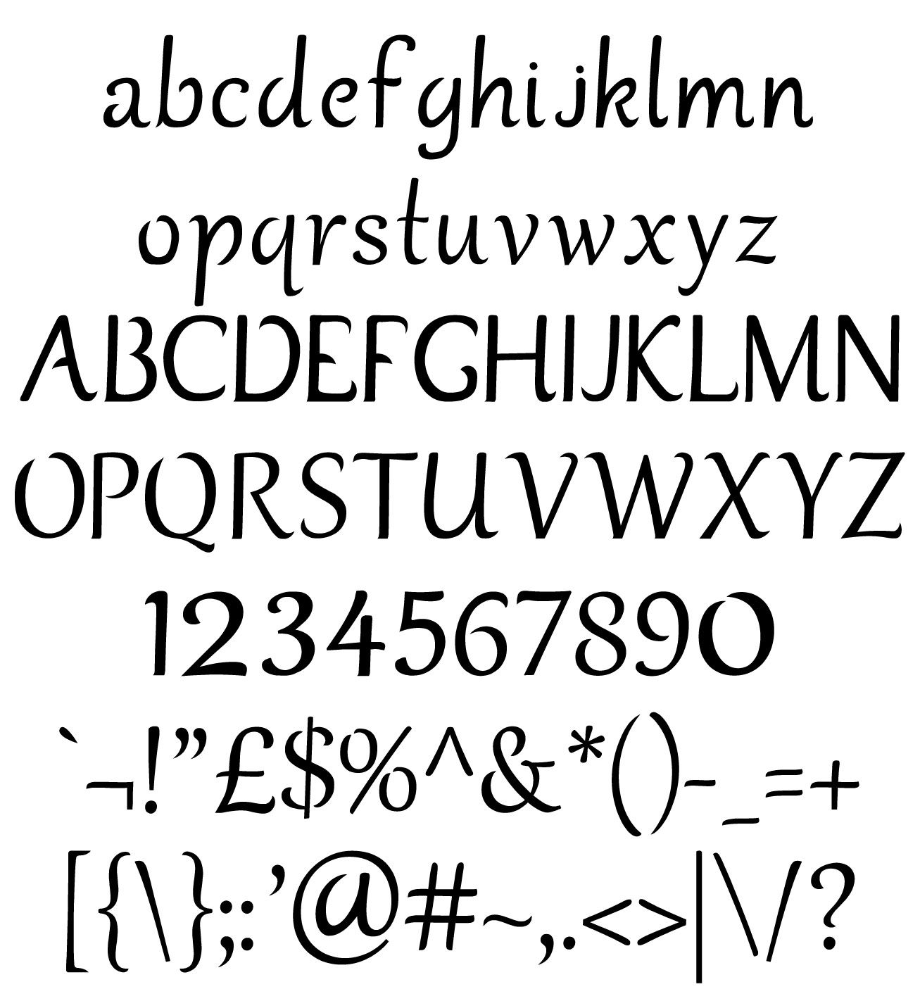 Free Cuttable Font File
