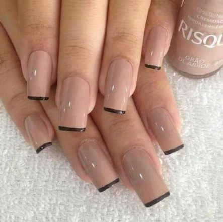 35+ Trendy Nails Coffin French Design #fallnails