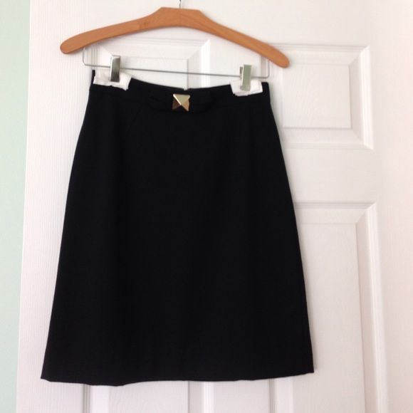 Wool, Kate spade a-line skirt with gold details! Kate spade skirt with gold details! Perfect for office or going out! Some minor scratches on gold hardware... See photo. kate spade Skirts A-Line or Full