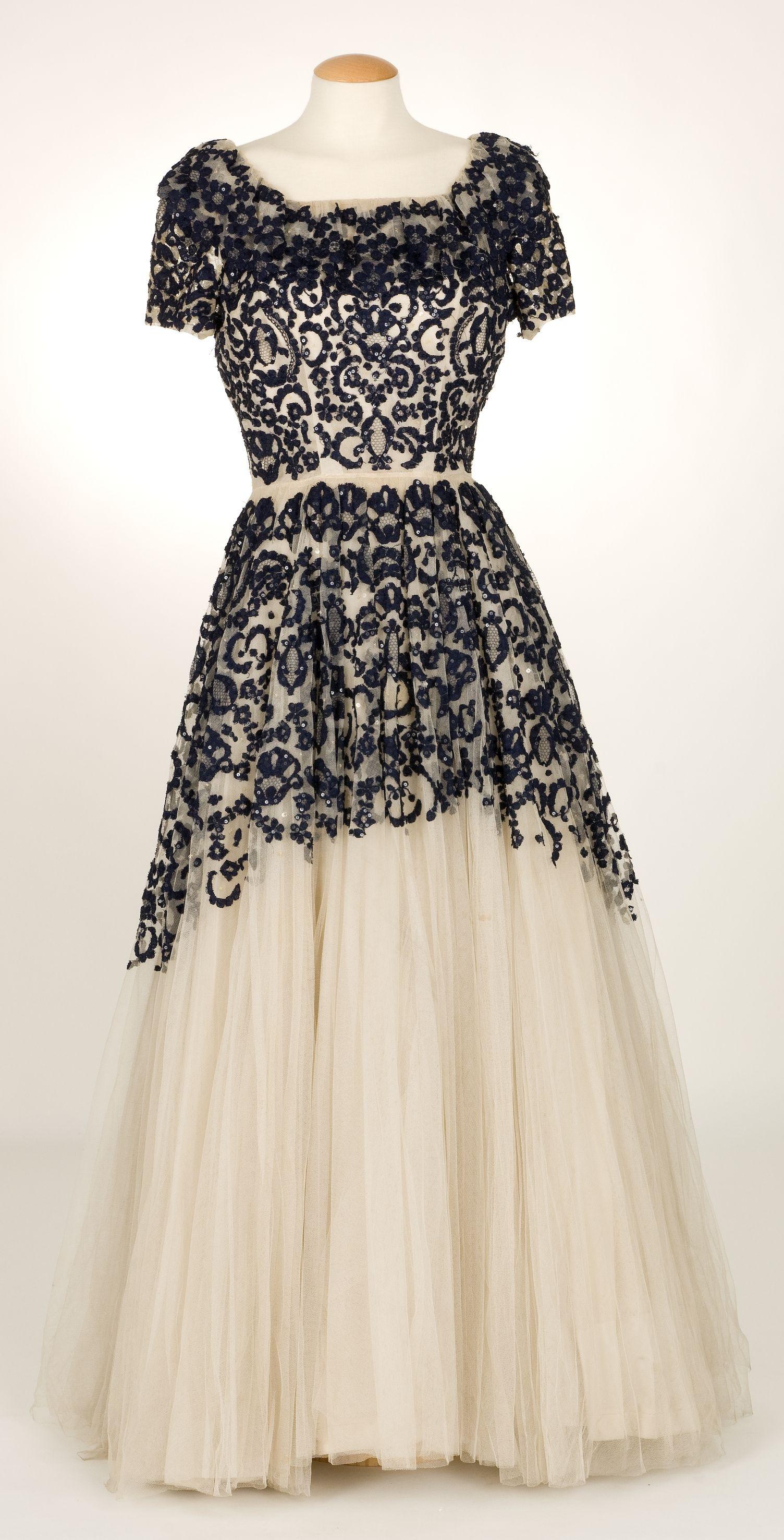 Evening dress santa eulalia ca spanish silk taffeta
