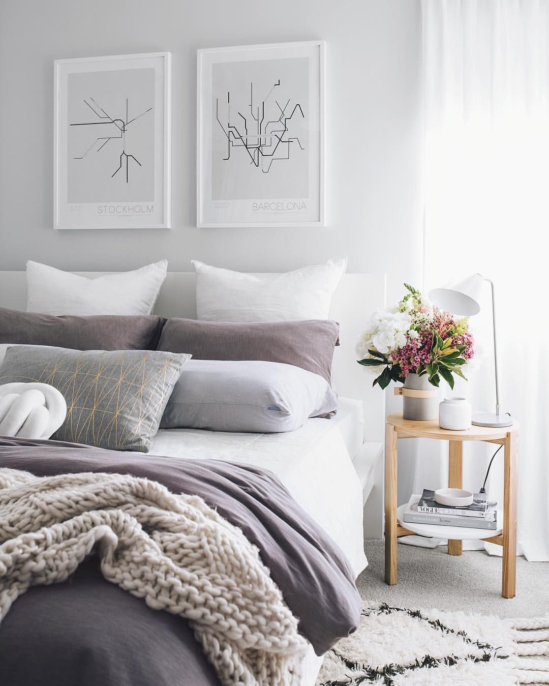 Pin by Stacy Jackson on bedroom | Purple bedrooms, Room ...