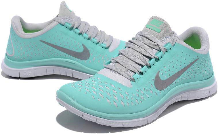 pretty nice 59f2f 28583 Womens Nike Free 3.0 V4 Aqua Silver Shoes