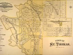 St Thomas Ontario Canada Map Old map of St. thomas | Ontario canada travel, St thomas, Thomas
