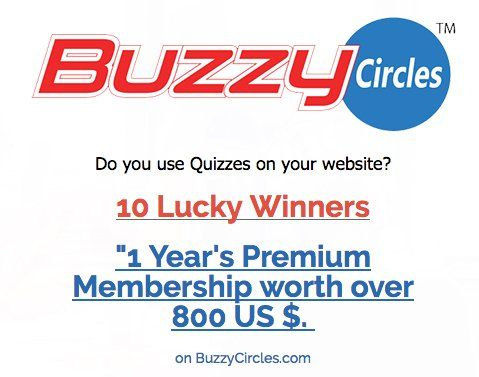 10 Lucky Winners will receive a $80.00 1 Year Premium Membership worth to the sponsor's Quiz making platform. Enter now.    Every Month's Membership Plan includes:        100K Quiz Views every month.      Full White Label      Unlimited Quizzes.     ...