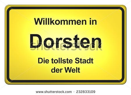 German road sign with the city Dorsten