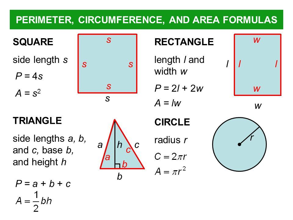 Perimeter And Circumference With Images Area And Perimeter