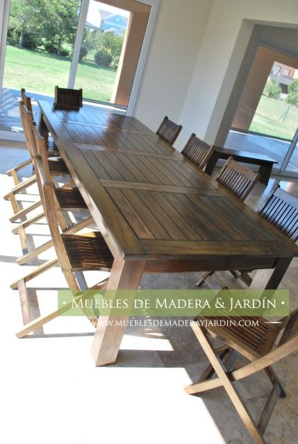 Mesa y sillas para quinchos muebles de jardin in 2019 - Sillas madera jardin ...