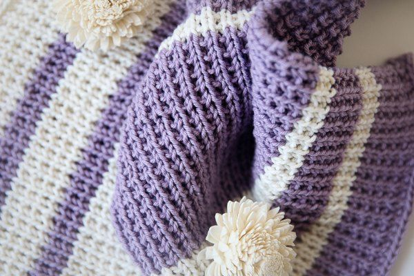 This Easy Knit Baby Blanket Pattern Is Super Fun And Also Easy To