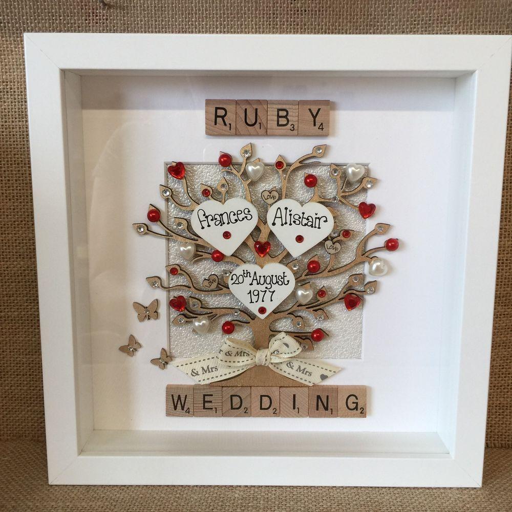 Personalised Frame 50 Years Golden Pearl Silver Ruby Wedding Anniversary Gift Ebay Ruby Wedding Anniversary Gifts Ruby Wedding Anniversary 40th Wedding Anniversary Gifts