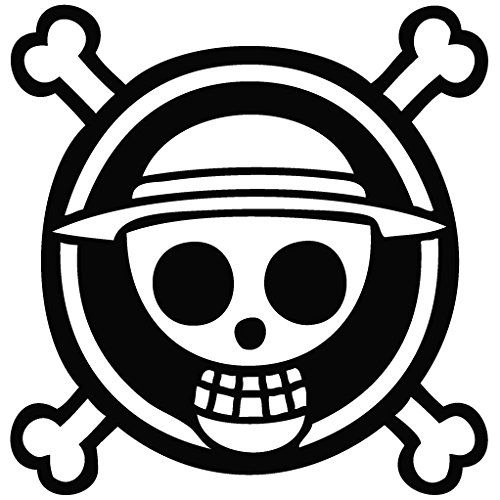 One Piece Anime Logo Cartoon Decal Vinyl Removable Decorative Sticker for Wall Laptop Suitcase Decal Dude Music Instruments Macbook Bike Small Appliances Car Helmet Motorcycle Ipad