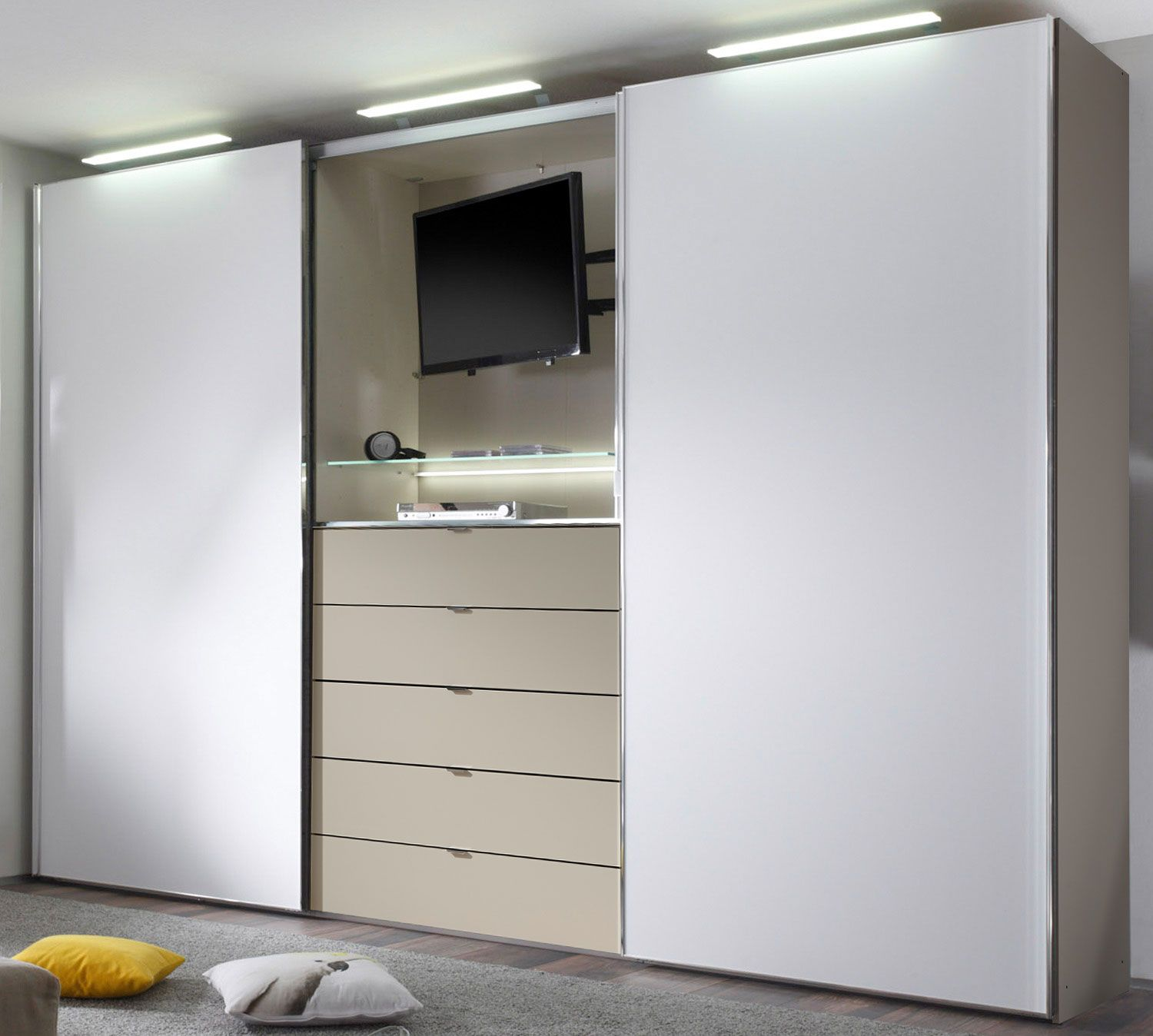11 Inspirierend Fotos Von Schrank Fernseher Tv In Bedroom Wardrobe Design Bedroom Small Closet Organization Bedroom