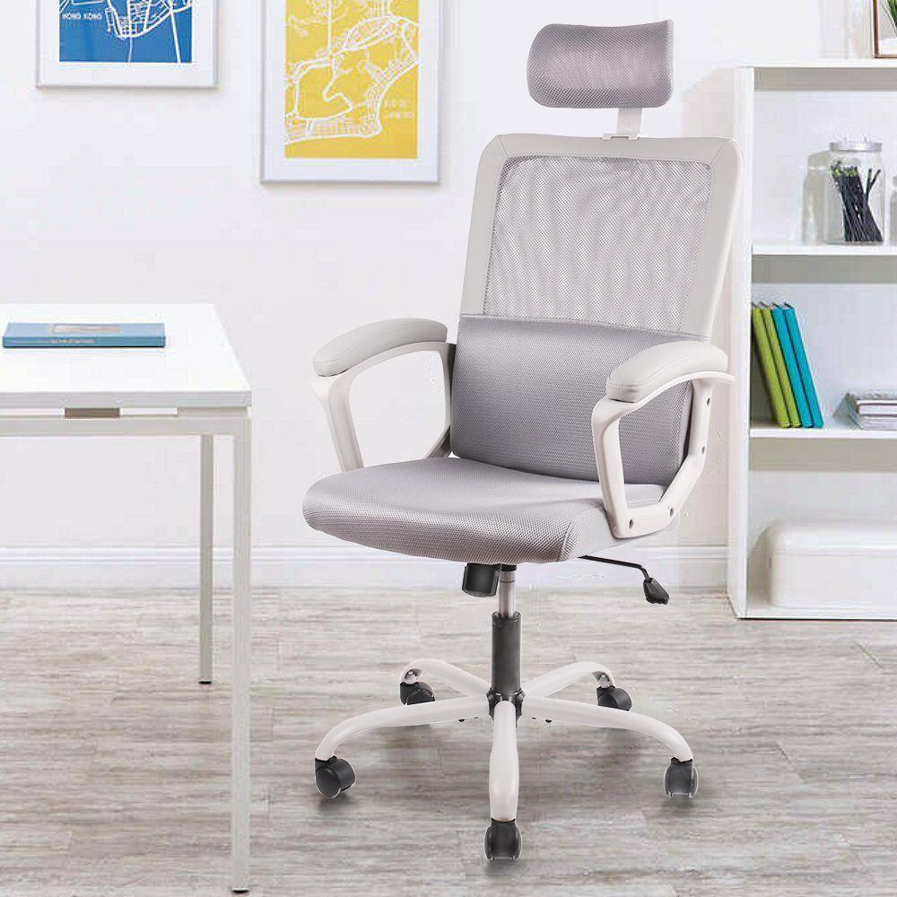 Ergonomic Office Chair,Adjustable Headrest Mesh Office