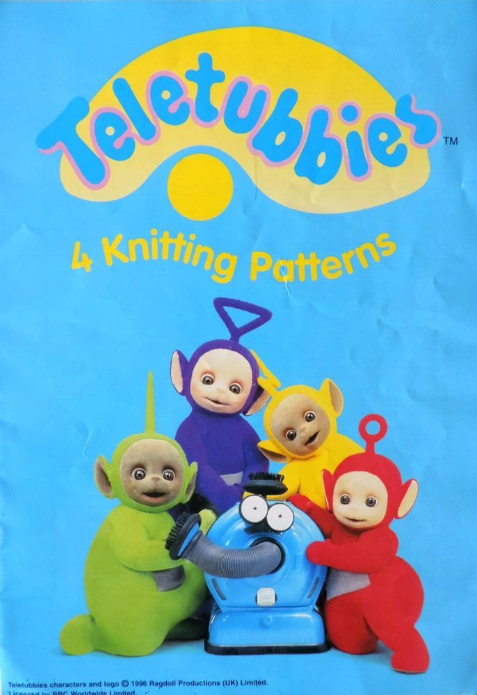 Knitting Pattern Teletubbies Jumpers Child Adult Gary Kennedy