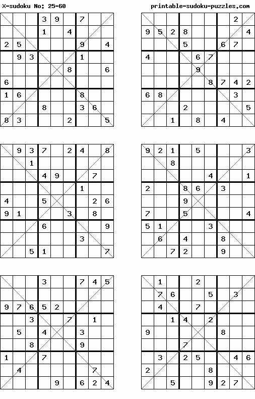 Web Jigsaw X Sudoku - Free Irregular Diagonal Sudoku Puzzles to Play Online