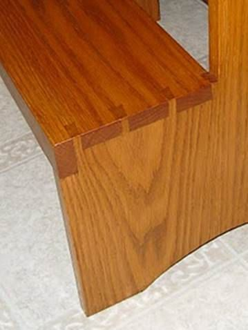 Dovetailed Step Stool Bench  Shaker Style  by WoodstockHandmade