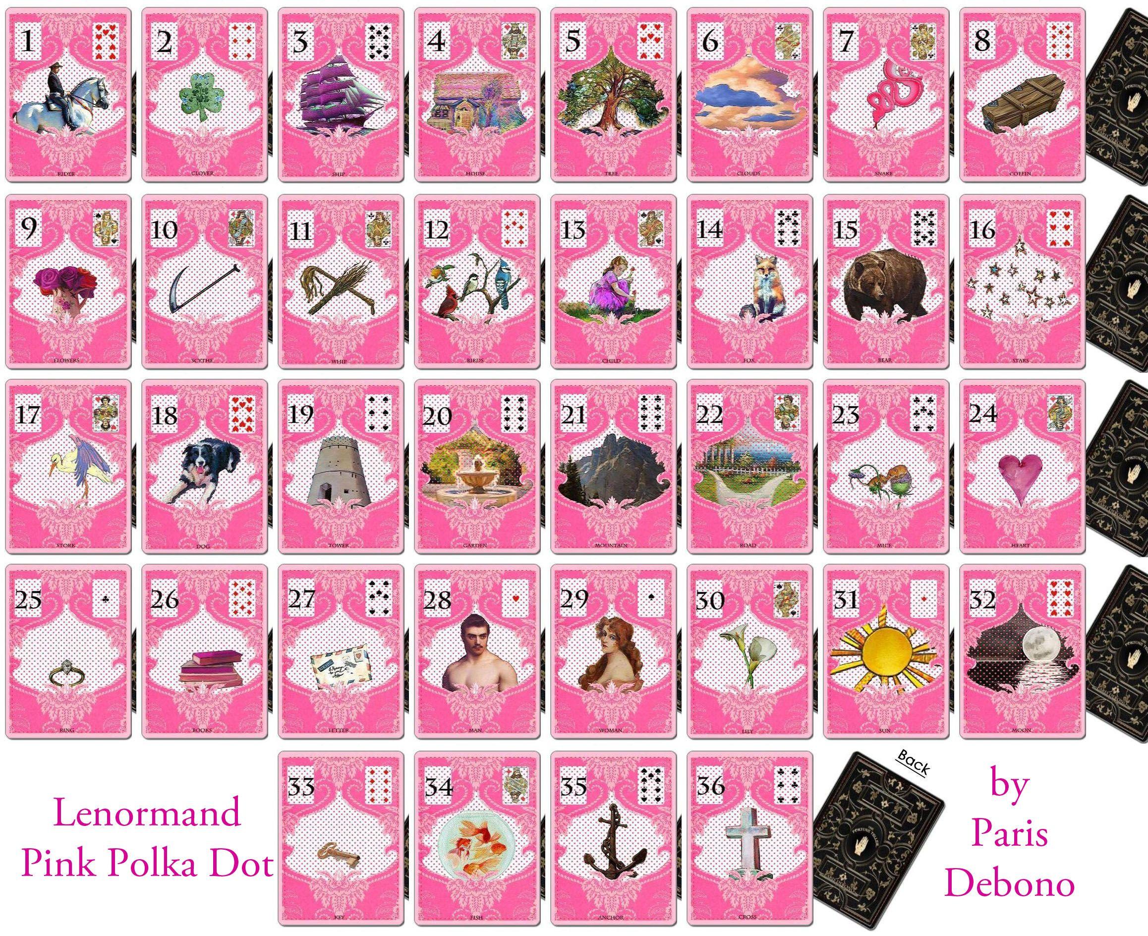 Lenormand pink deck by paris debono cartomancer