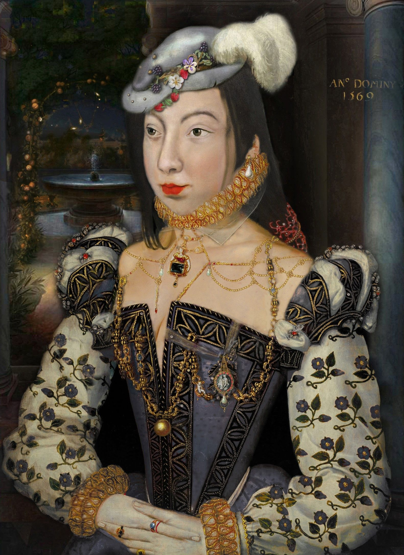 As mama and brother, Queen Margot married to give out 27
