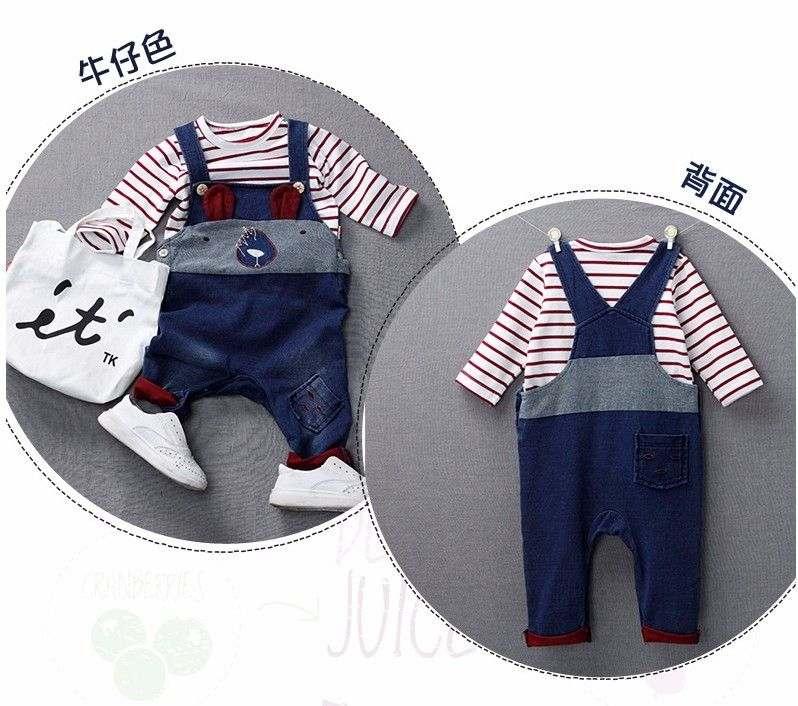 F040 2017 Hot New Products Newborn Baby Clothes Cartoon Cowboy