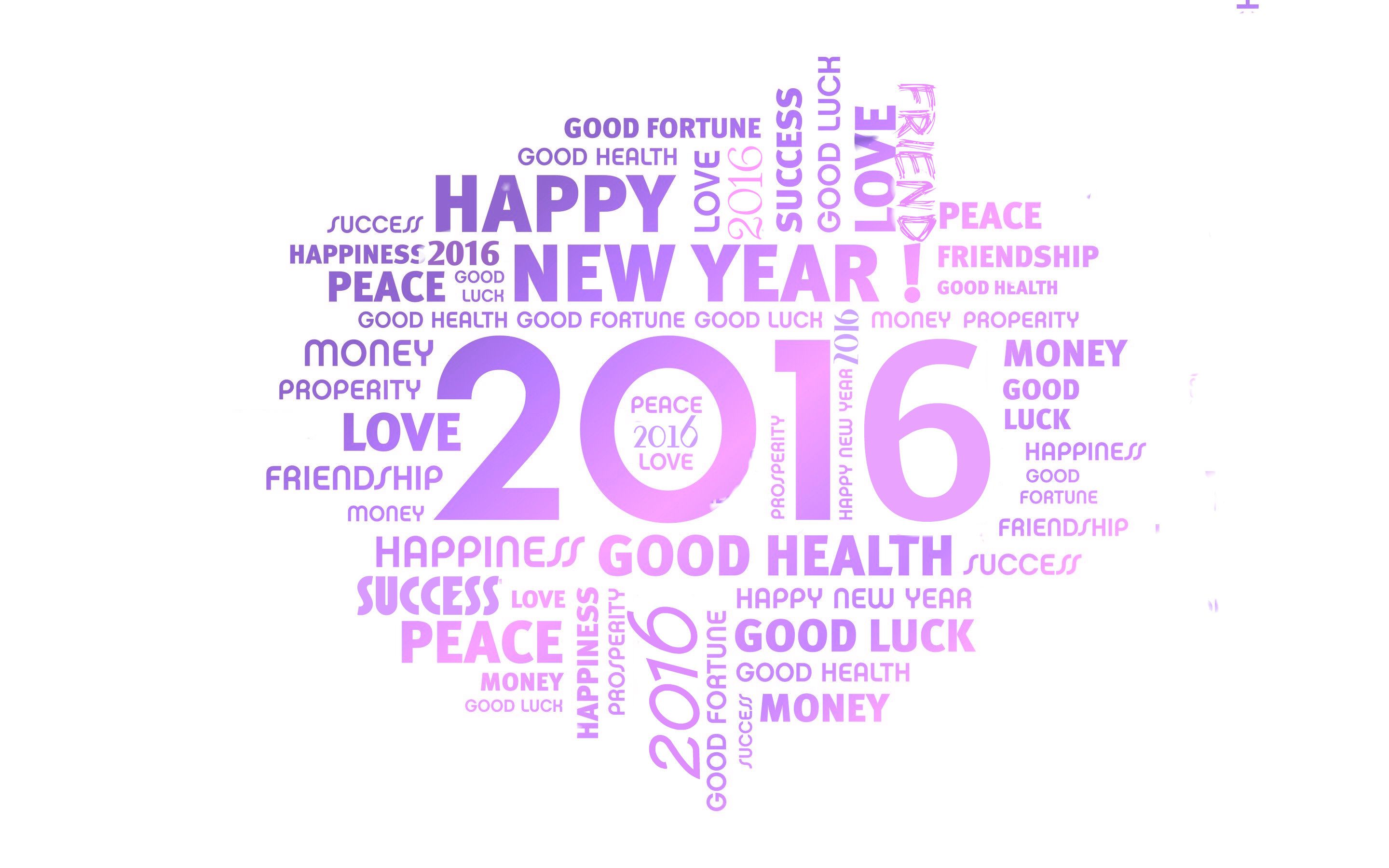 Happy New Year 2016 Hope Wallpaper White Background Free