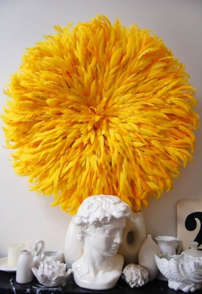 Large Bamileke Feather Juju Hat- can't decide if i love these, or if they make me sneezy.