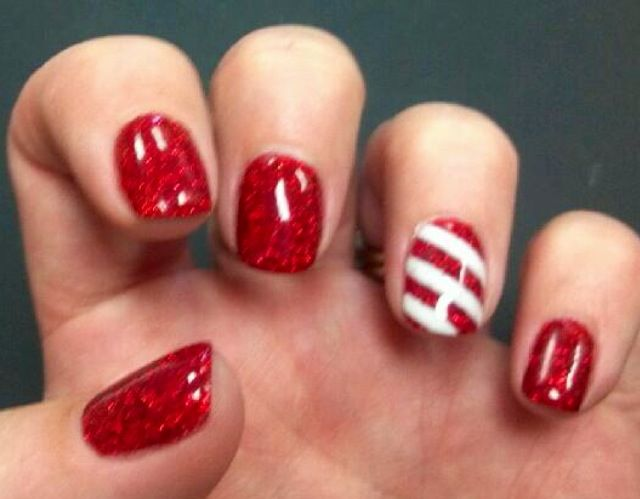 Candy Cane Nails Christmas Nails Easy Candy Cane Nails Christmas Gel Nails