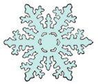 Flocon de neige : Flocon de neige en papier - Noel - Tete a modeler