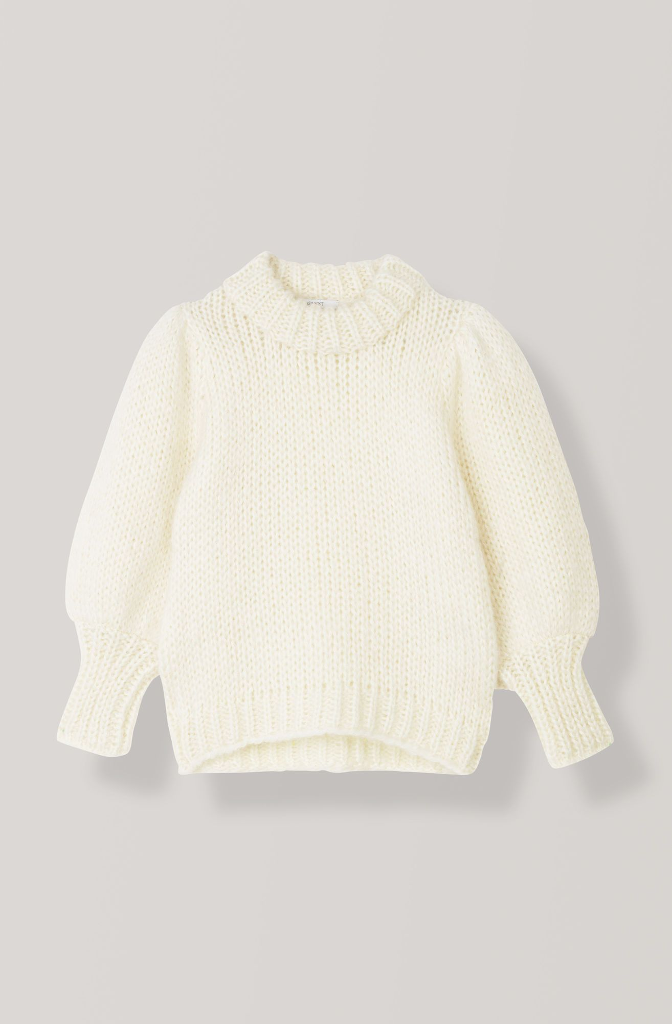 a5131f5a The Julliard Mohair Puff Sleeve Pullover, Egret | GANNI Angels ...